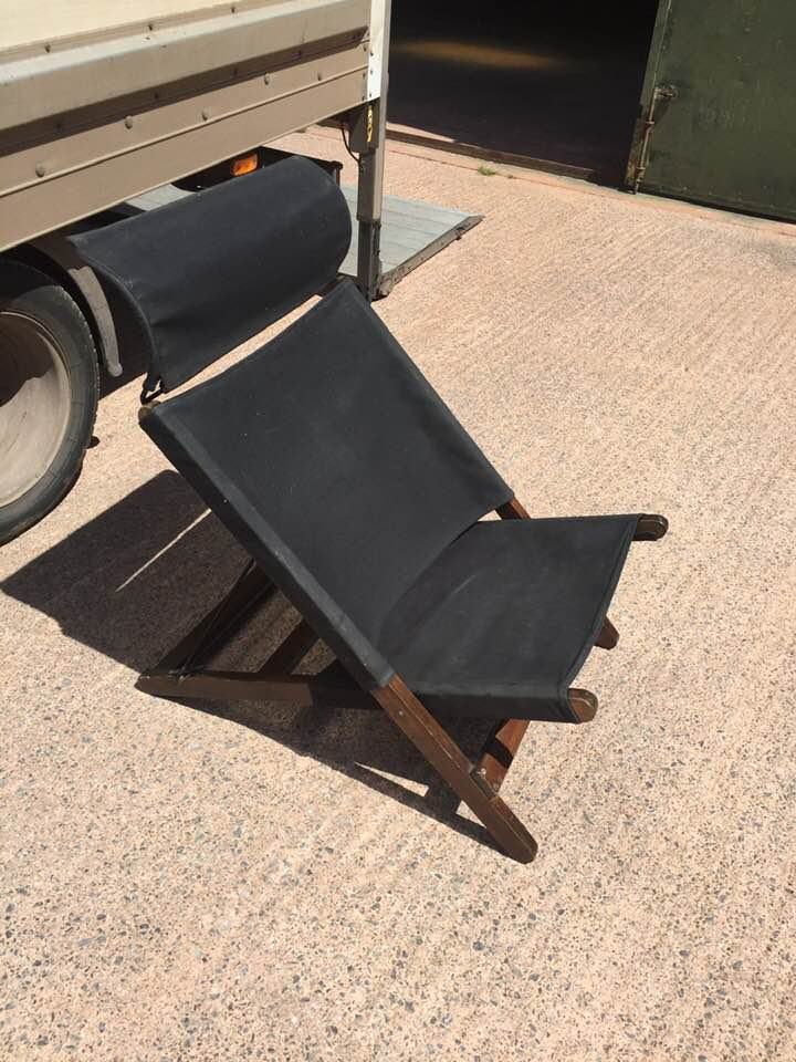 Very comfy Ikea frame chair with black upholstery