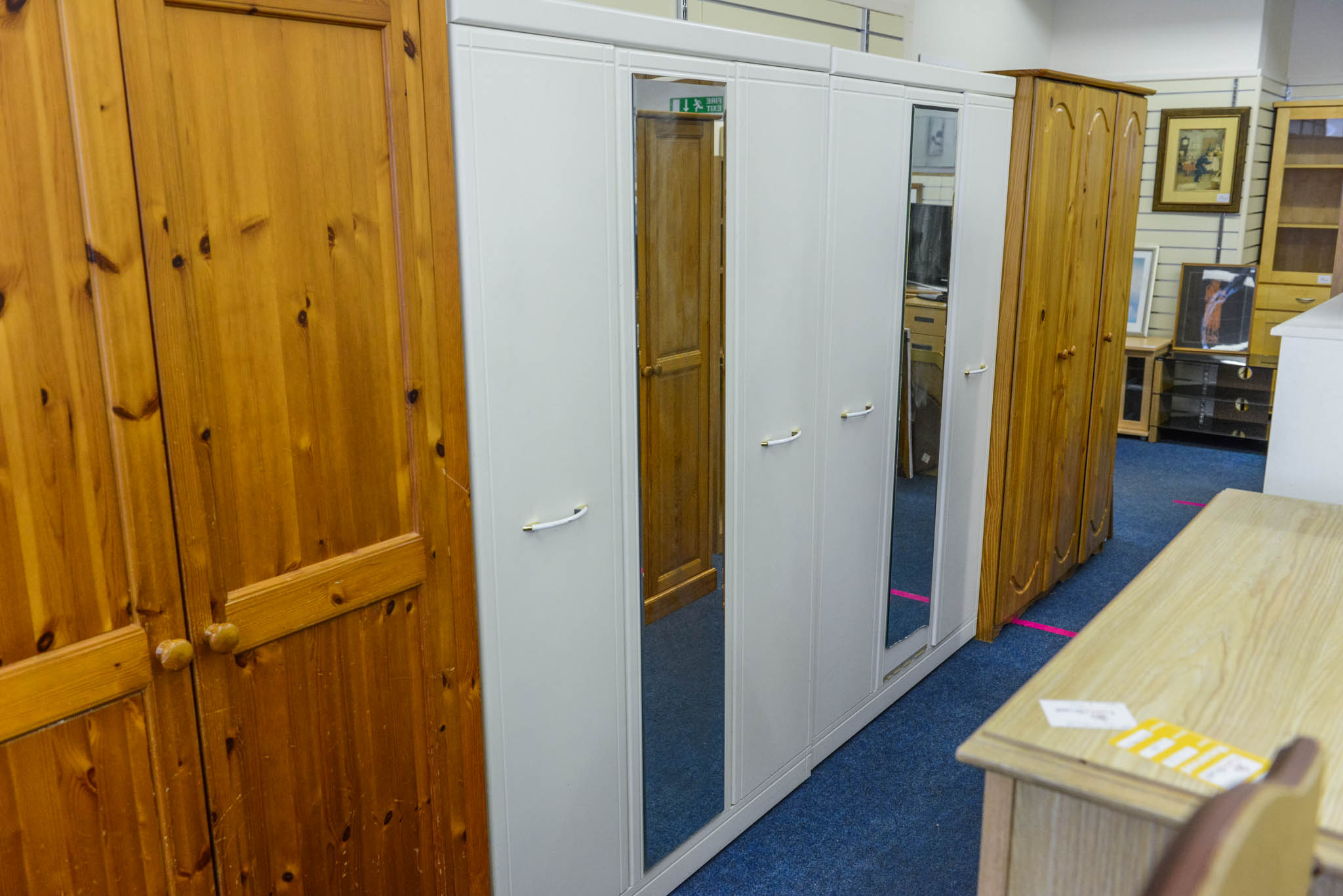 Large white wardrobe 