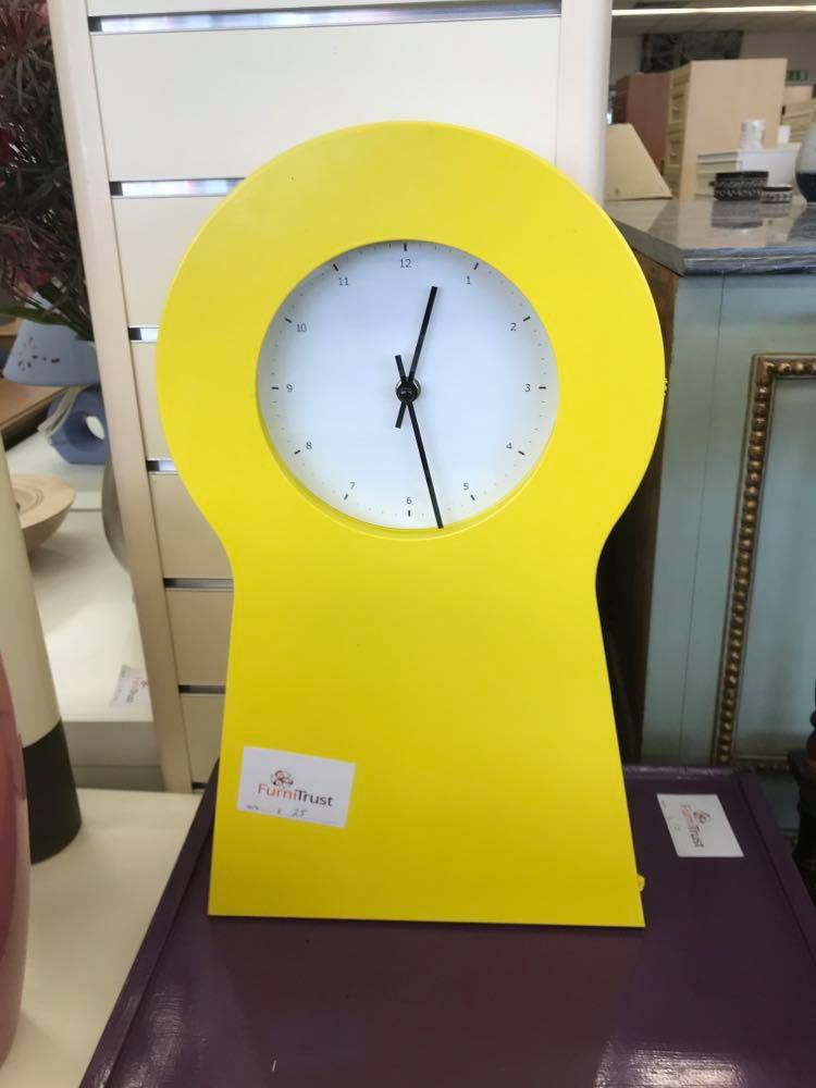 IKEA PS1995 Key Cabinet / Clock in Yellow