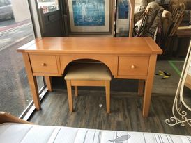 Light oak dressing table c/w matching stool