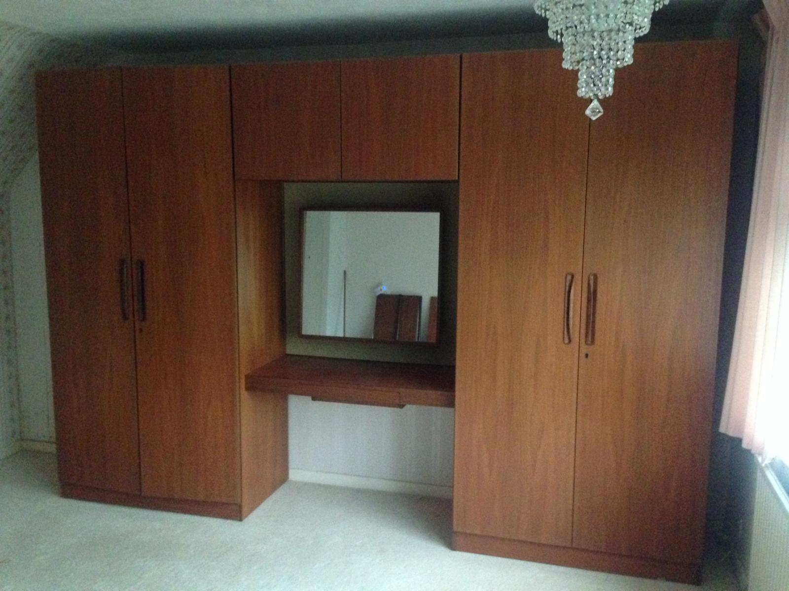 G Plan Triple wardrobe set. Currently dismantled for ease of transport. Price includes re-assembly at the purchasers property.